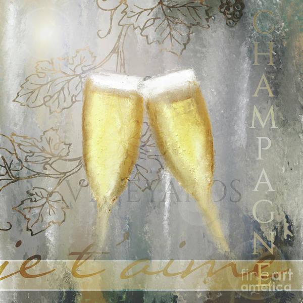 Digital Art - Cheers To Love by Anne Vis
