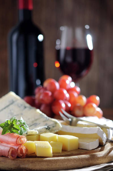 Italian Wine Photograph - Cheese And Wine by Moncherie