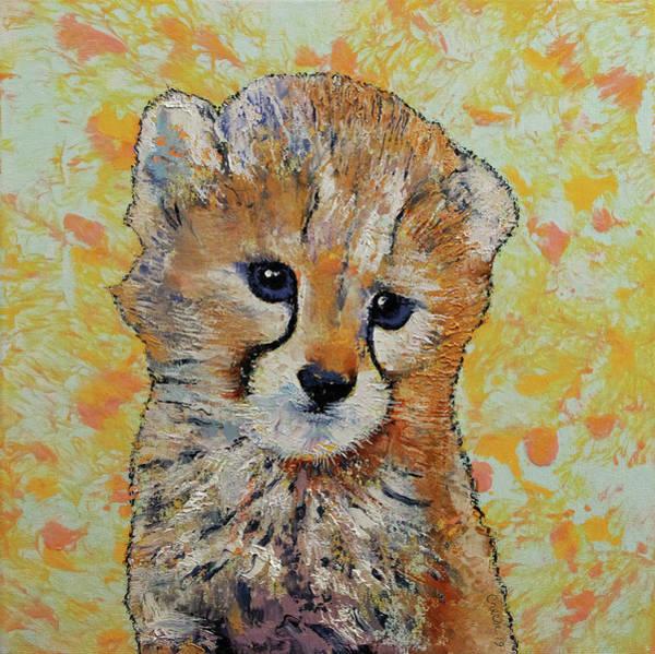 Wall Art - Painting - Cheetah Cub by Michael Creese