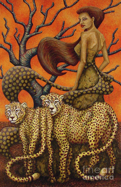 Painting - Cheetah's Gaze by Amy E Fraser