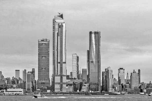 Wall Art - Photograph - Chelsea New York City Skyline  Bw by Susan Candelario