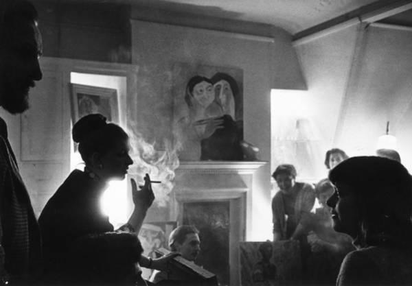 Photograph - Chelsea Party by Erich Auerbach