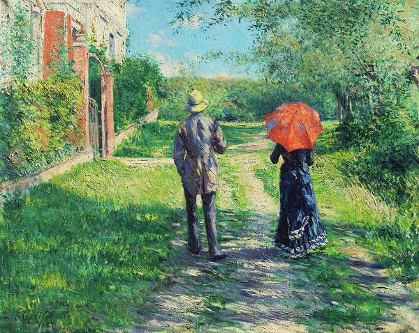 Wall Art - Painting - Chemin Montant - Digital Remastered Edition by Gustave Caillebotte