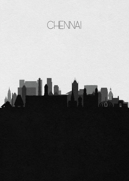 Digital Art - Chennai Cityscape Art by Inspirowl Design