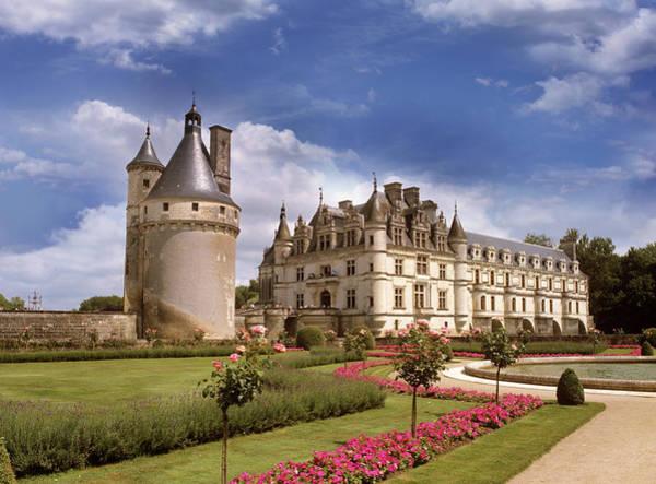 Castle Garden Photograph - Chenonceaux Chateau by Images Etc Ltd