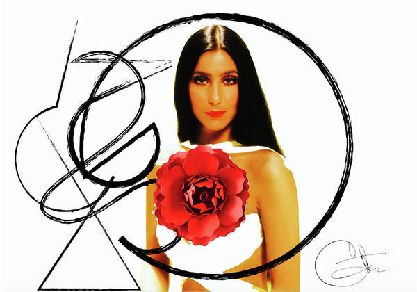 Sonny Bono Wall Art - Digital Art - Cher by Benny Brixton