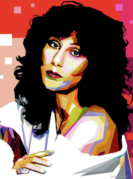 Wall Art - Digital Art - Cher by Stars-on- Art
