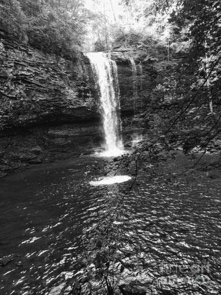 Photograph - Cherokee Falls Bnw by Rachel Hannah