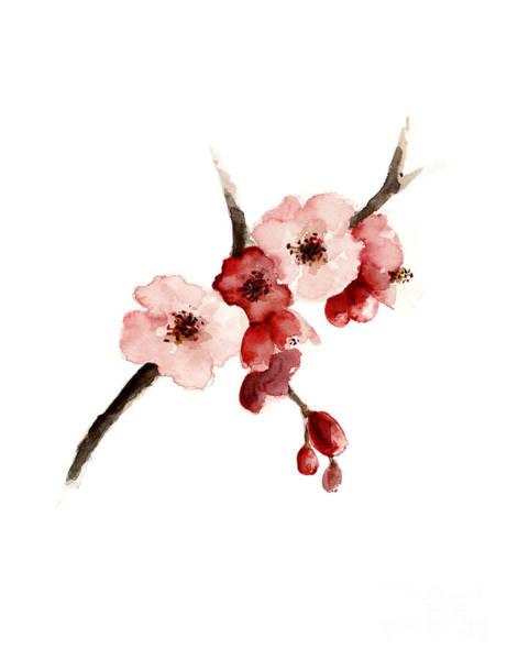 Wall Art - Painting - Cherry Blossom Art Print by Joanna Szmerdt
