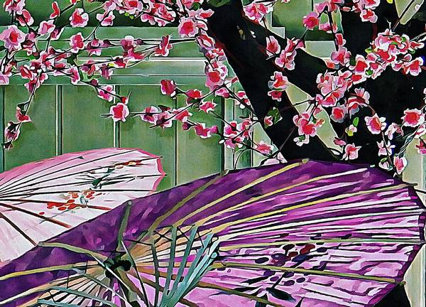 Photograph - Cherry Blossom Parasols by Dorothy Berry-Lound