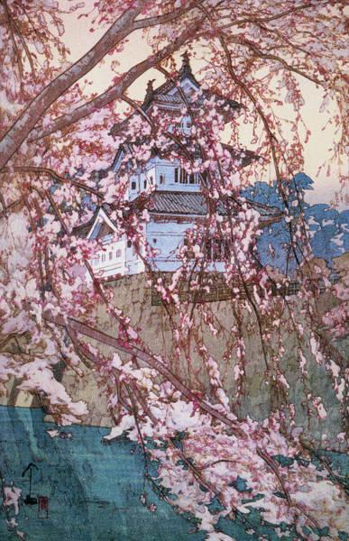 Wall Art - Painting - Cherry Blossoms 8scenes, Hirosaki Castle - Digital Remastered Edition by Yoshida Hiroshi