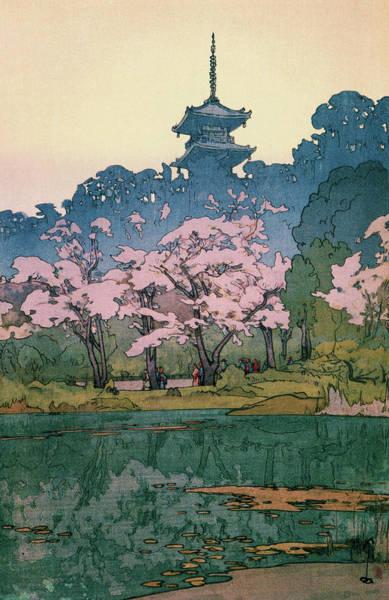 Wall Art - Painting - Cherry Blossoms 8scenes, Sankeien Garden - Digital Remastered Edition by Yoshida Hiroshi