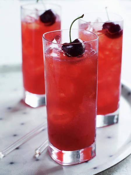 Cocktail Photograph - Cherry Cocktail by Alexandra Grablewski