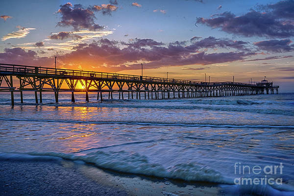 Photograph - Cherry Grove Purple Sunrise by David Smith