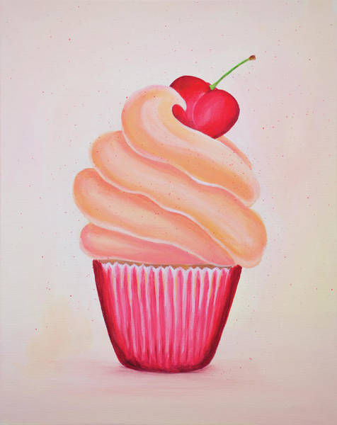 Fairy Cakes Painting - Cherry Kisses by Iryna Goodall