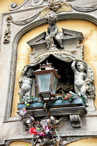 Photograph - Cherubs By The Light In Florence by John Rizzuto