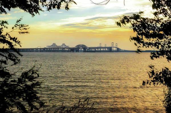 Wall Art - Photograph - Chesapeake Bay Bridge At Sunset by Brian Wallace