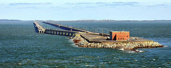 Photograph - Chesapeake Bay Bridge Tunnel E S V A by Bill Swartwout Photography