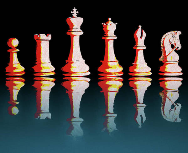 Mixed Media - Chess Reflections by Dan Sproul