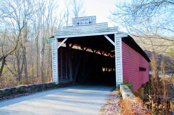 Photograph - Chester County Pennsylv Ania - Sheeder Hall Covered Bridge by Bill Cannon