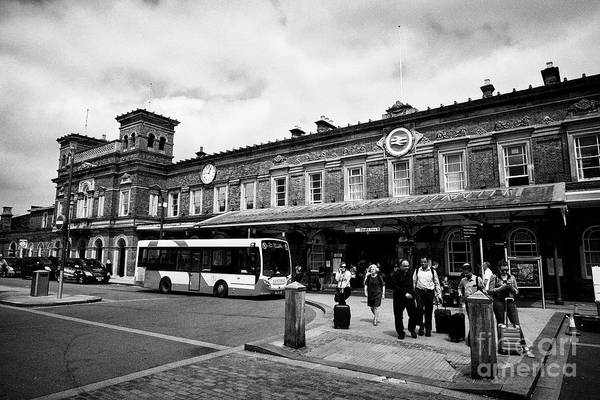 Wall Art - Photograph - Chester Railway Station Exterior Chester Cheshire England Uk by Joe Fox