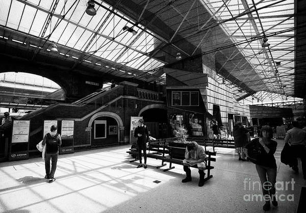 Wall Art - Photograph - Chester Railway Station Interior Chester Cheshire England Uk by Joe Fox