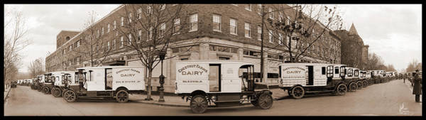 Wall Art - Photograph - Chestnut Farms Dairy Trucks, Washington by Fred Schutz Collection