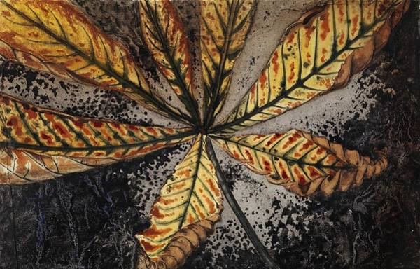 Wall Art - Painting - Chestnut Leaf By Julie De Graag  1877-1924  by Celestial Images