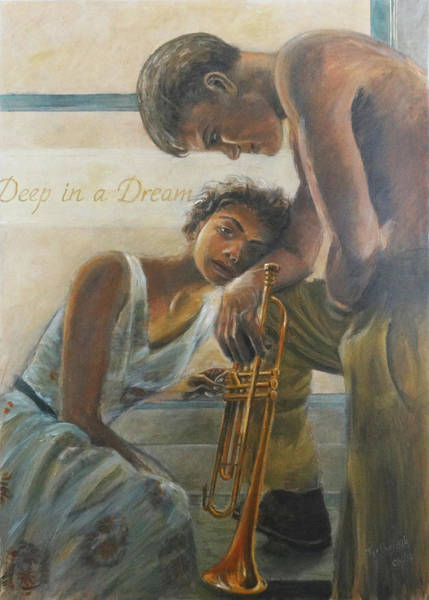 Wall Art - Painting - Chet And Halema by Fer Overdijk