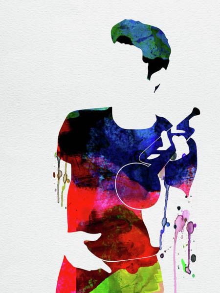 Jazz Mixed Media - Chet Baker Watercolor by Naxart Studio