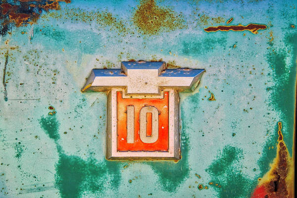 Photograph - Chevrolet 10 Emblem by Lynn Bauer