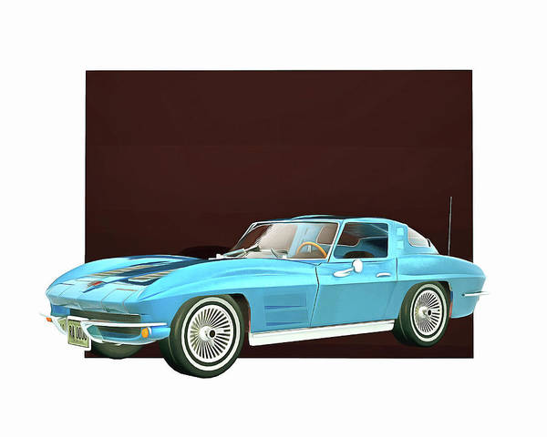Digital Art - Chevrolet Corvette Stingray by Jan Keteleer