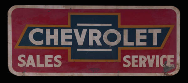 Photograph - Chevrolet Dealership Sign by Chris Flees