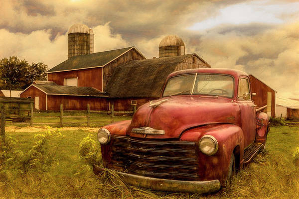 Photograph - Chevrolet In The Countryside Oil Painting by Debra and Dave Vanderlaan