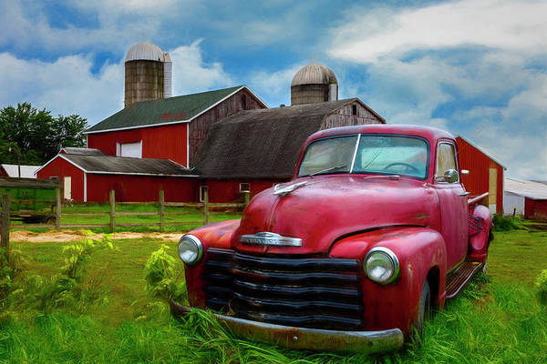 Photograph - Chevrolet In The Countryside Painting by Debra and Dave Vanderlaan
