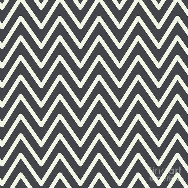 Digital Art - Chevron Wave Asphalt by Sharon Mau