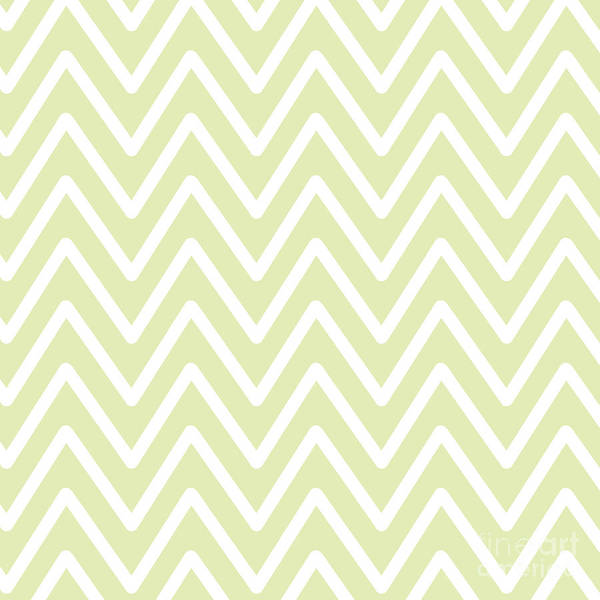 Digital Art - Chevron Wave Yellow Soft by Sharon Mau
