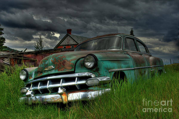 Photograph - Chevy  Bel Air by Tony Baca