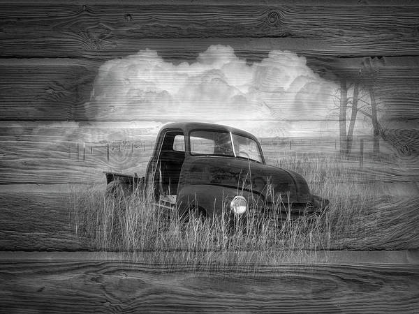 Wall Art - Photograph - Chevy In Black And White by Debra and Dave Vanderlaan