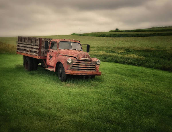 Wall Art - Photograph - Chevy Stake Flatbed by Jesse Castellano