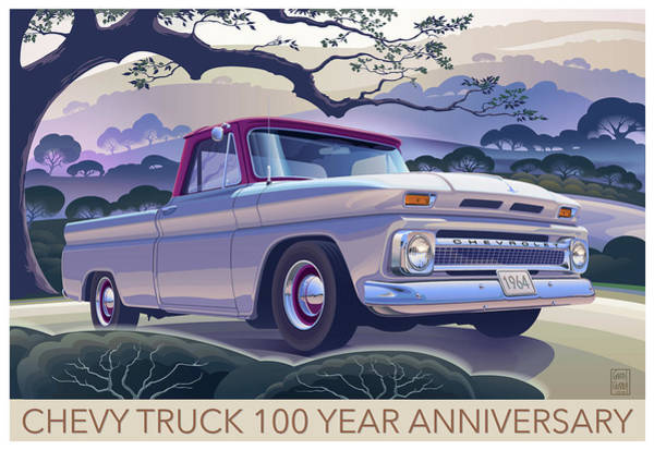 Truck Digital Art - Chevy Truck Centennial 1964 Shortbed Custom Half Ton by Garth Glazier