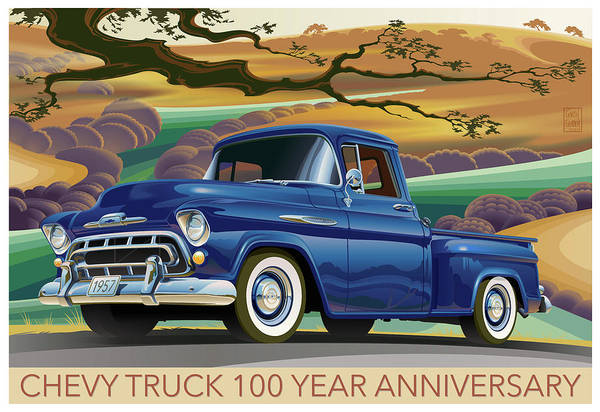 Truck Digital Art - Chevy Truck Centennial 3100 by Garth Glazier