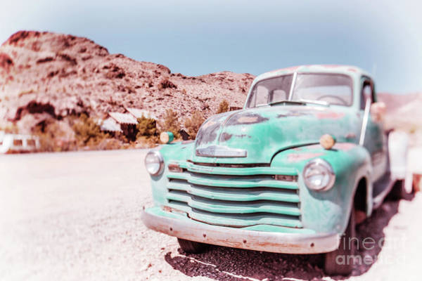 Wall Art - Photograph - Chevy Truck Dreamland Tilt-shift by Edward Fielding