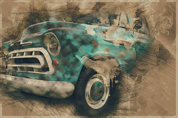 Pick Up Truck Digital Art - Chevy Truck by Tim Palmer