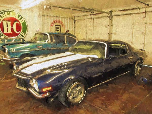 Digital Art - Chevy's In The Garage by Rick Wicker