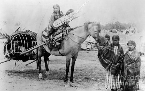 Photograph - Cheyenne Family, 1889 by Christian Barthelmess