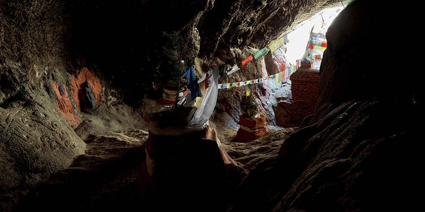 Wall Art - Photograph - Chhungsi Cave From The Inside, Mustang by Panoramic Images