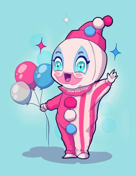 Funny Drawing - Chibi Pogo by Ludwig Van Bacon