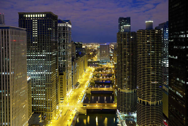 Skyline Drive Photograph - Chicago - Aerial View Of Downtown And by Chrisp0
