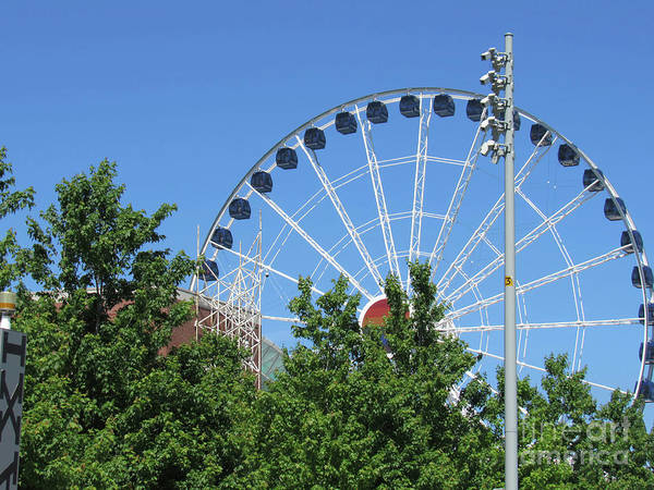 Photograph - Chicago And The Ferris Wheel At Navy Pier by Roberta Byram